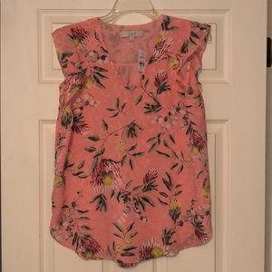 NWT LOFT sleeveless blouse. Lined, in perfect cond